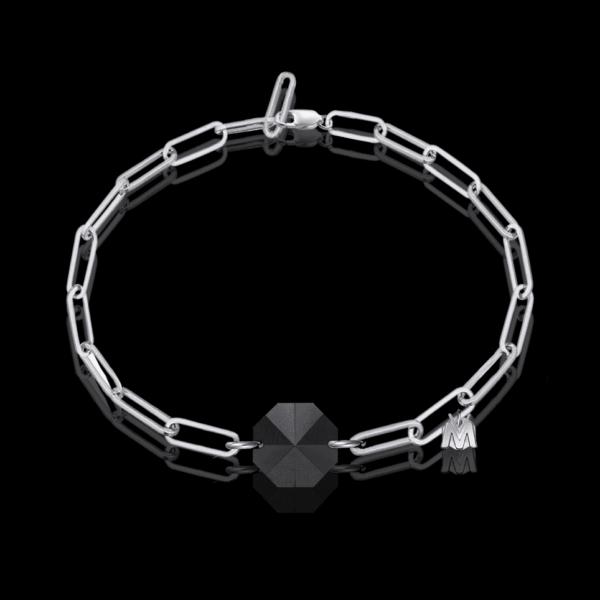 bracelet de luxe en argent pour homme