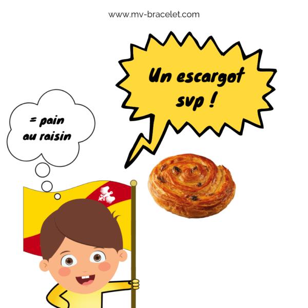 escargot et pain au raison en lorraine