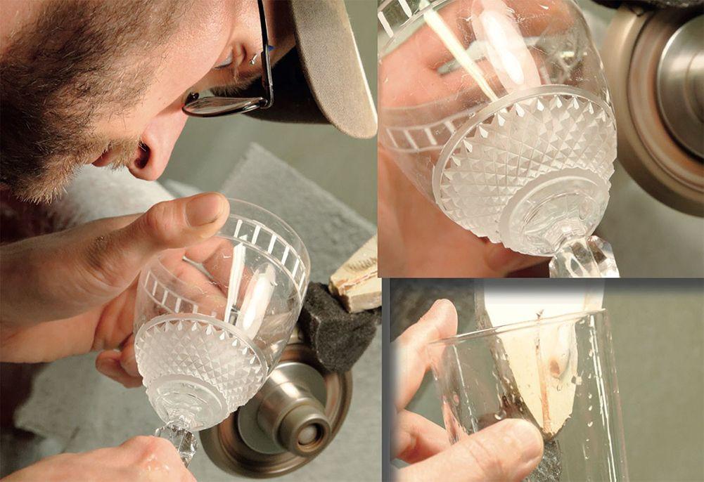 artisan tailleur et graveur sur verre