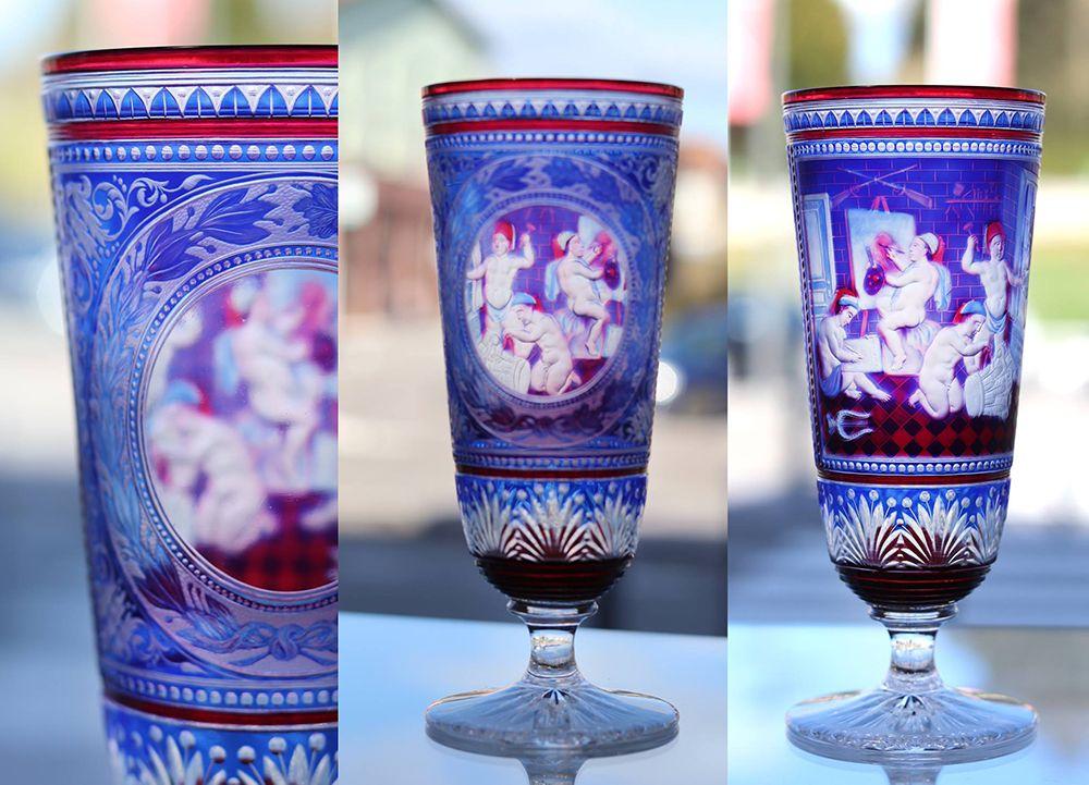 verre baccarat par le maitre graveur Simon 1882
