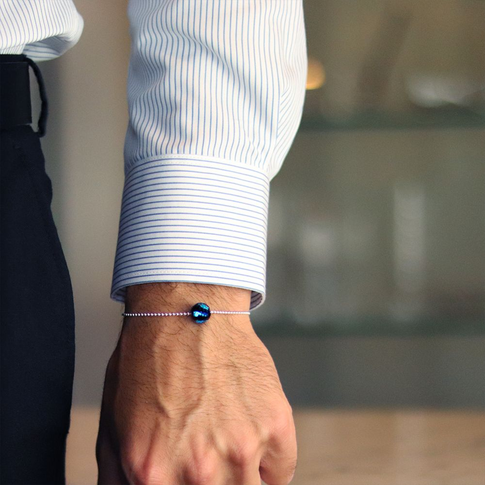 bracelet-perle-bleu-argent-hoomme