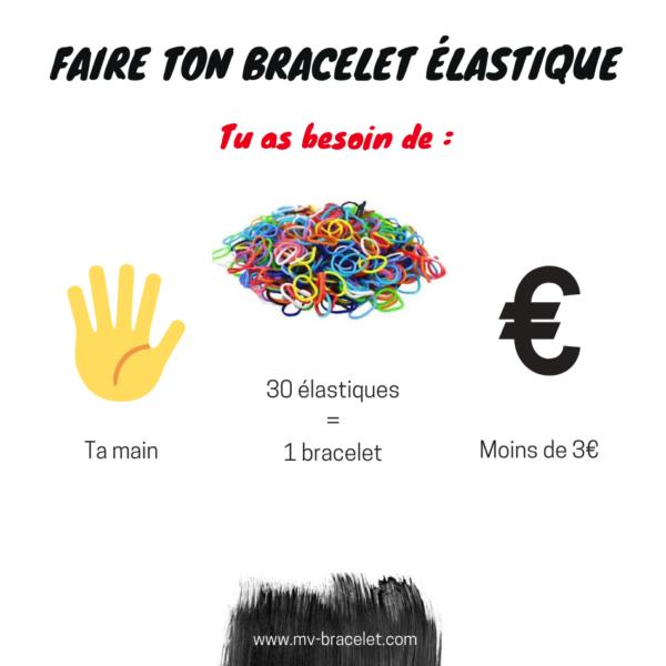 tutoriel pour faire un bracelet élastique simple