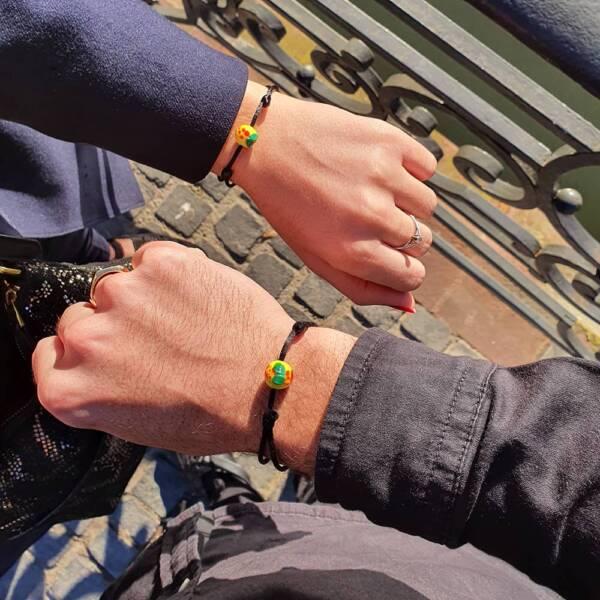 bracelet mirabelle en verre par michael vessiere