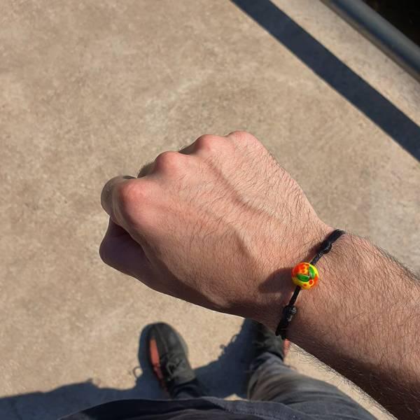 bracelet en verre mirabelle