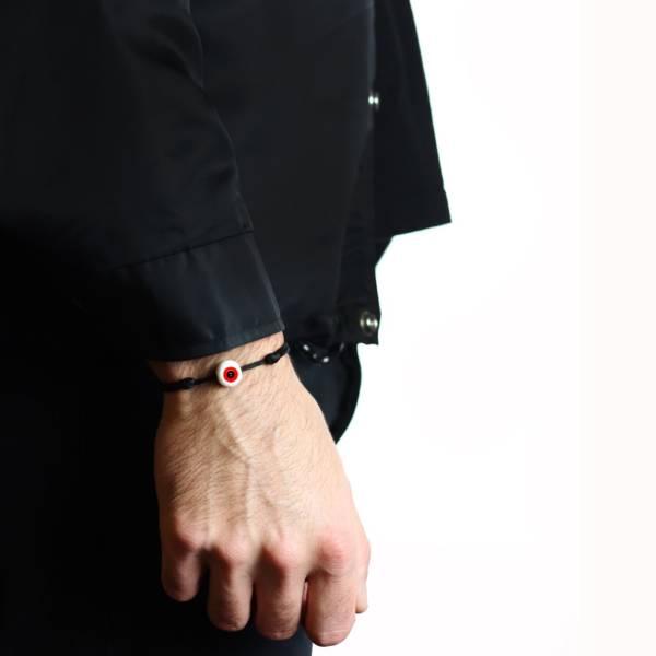 bracelet porte bonheur oeil en verre rouge
