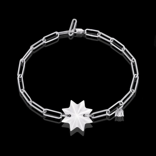 bracelet en étoile cristal et argent