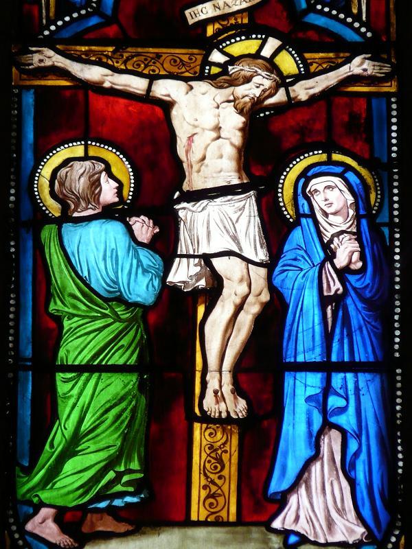 vitrail lorraine-crucifixion-XII-siecle-eglise-ste-segolene-de-metz