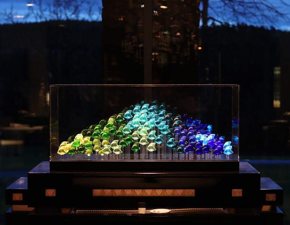 aquarium 100 poissons Lalique 1913