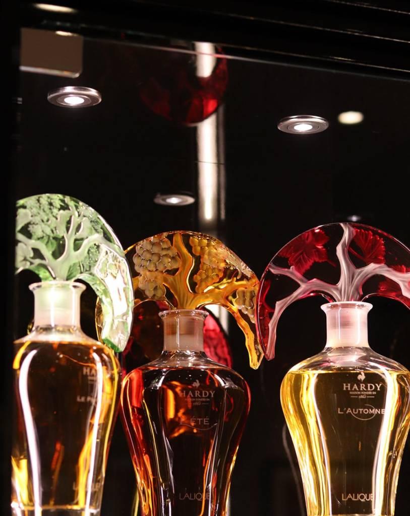 carafe cognac Hardy en cristal Lalique