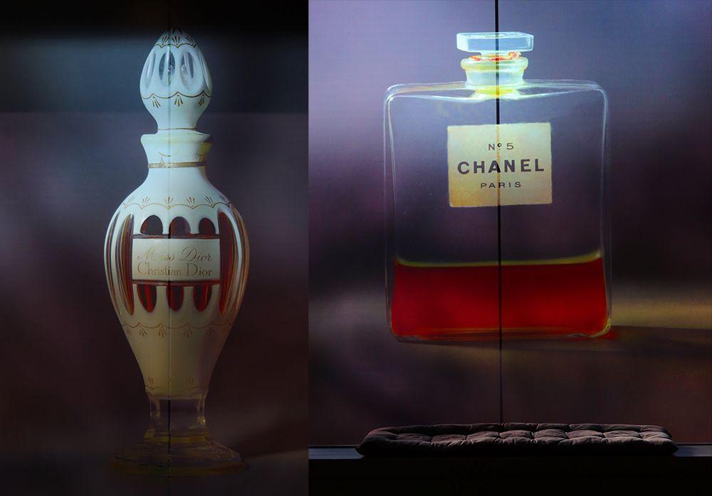 exposition prelude du musee du flacon de parfum de baccarat au pole bijou