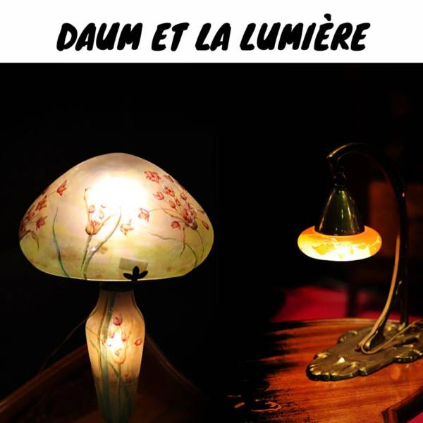 lampe art nouveau Daum France