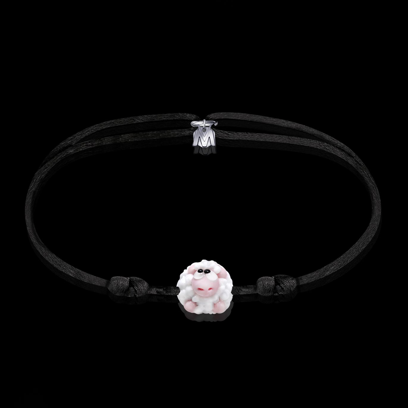 bracelet motif mouton en verre