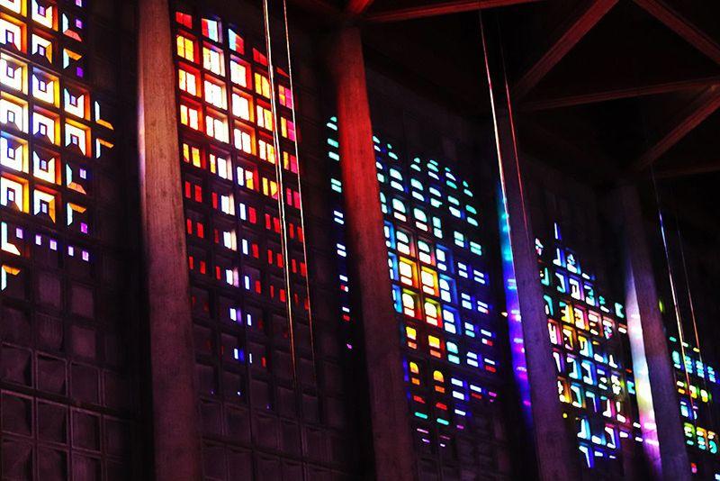 vitraux interieur de eglise saint Remy de Baccarat