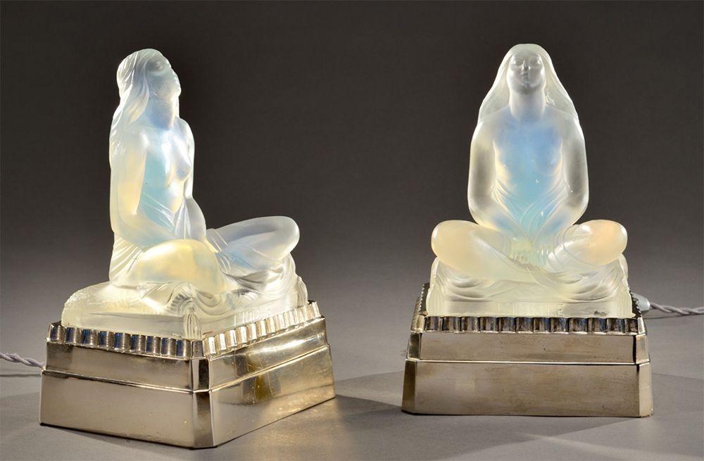 lampe idole sculpture femme Sabino