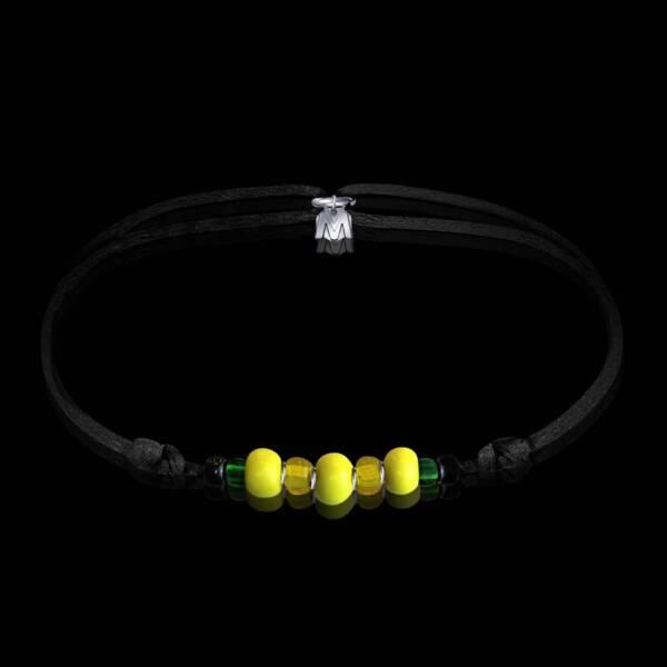 Bracelet-jonquille-verre-de-murano-sur-cordon