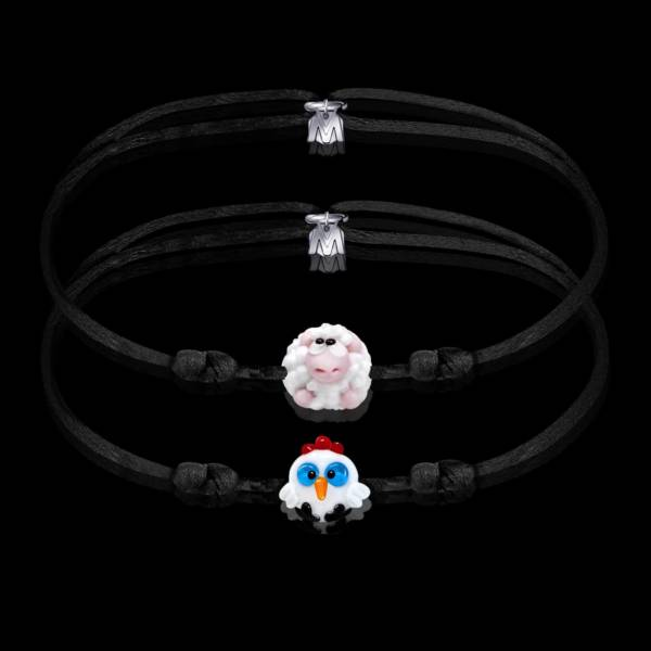 bracelet-de-couple-les-animaux-de-la-ferme