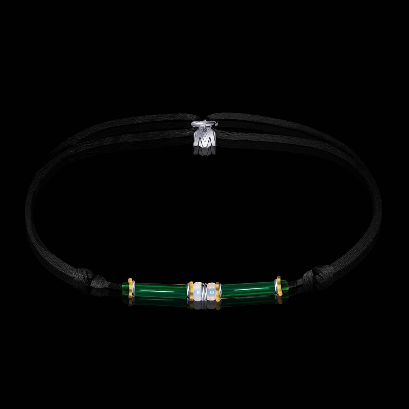 bracelet-cleopatre-verre-de-murano-sur-cordon