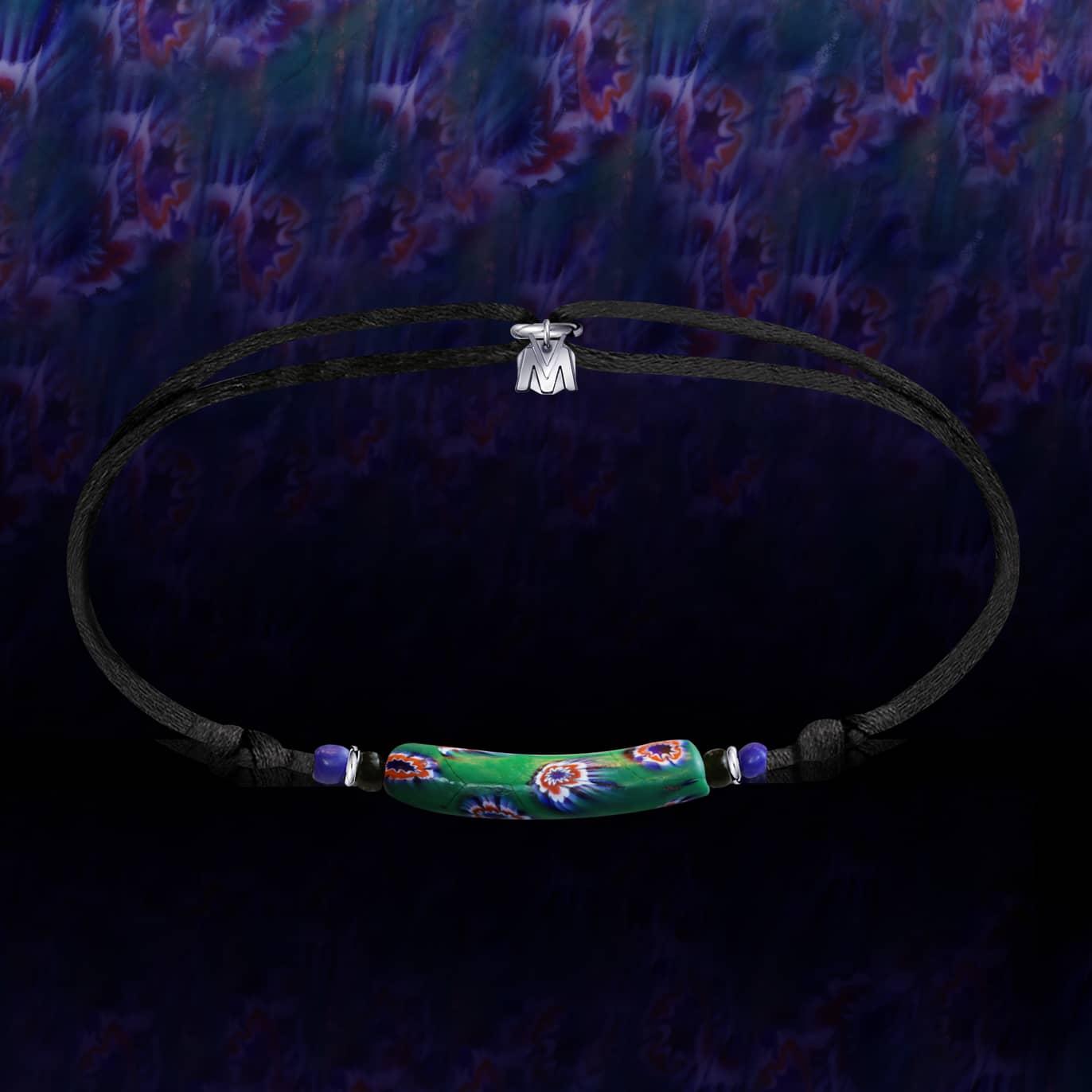 bracelet perles de verre Murano millefiori