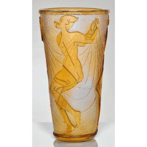 Vase-dit-aux-trois-danseuses-de-style-Art-déco-verre-haut-de-40 cm-1922