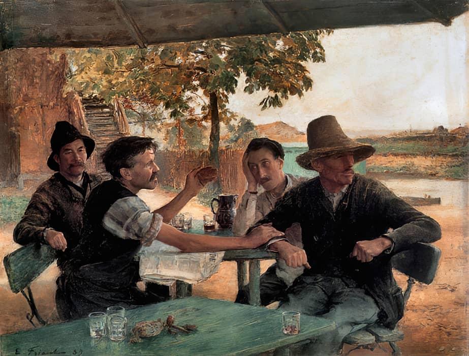Emile-FRIANT-La-discussion-politique-1888-adjuge-212500-euros