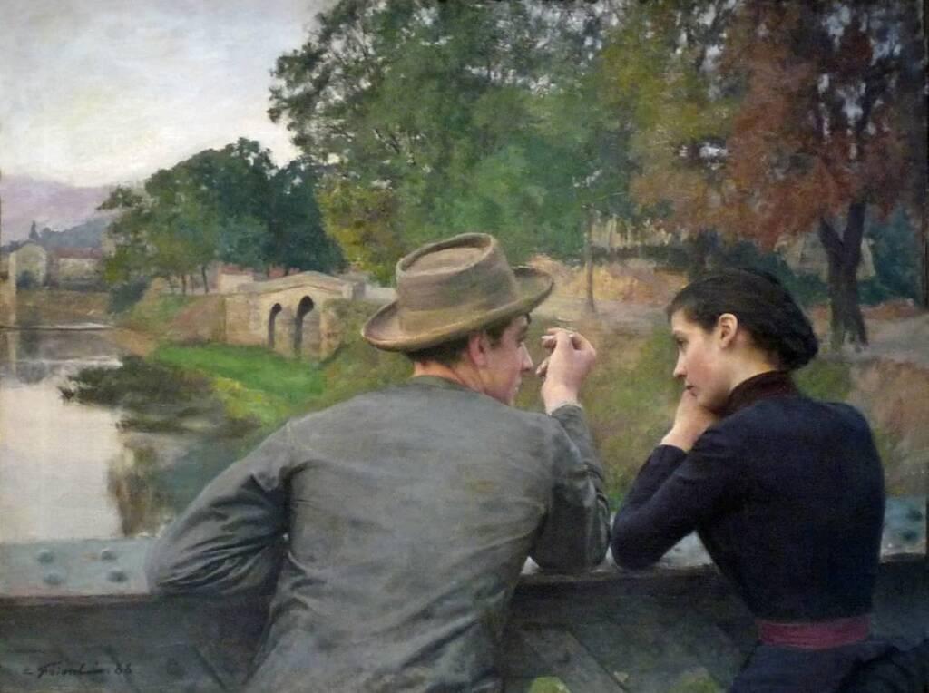 Emile FRIANT Les amoureux 1888