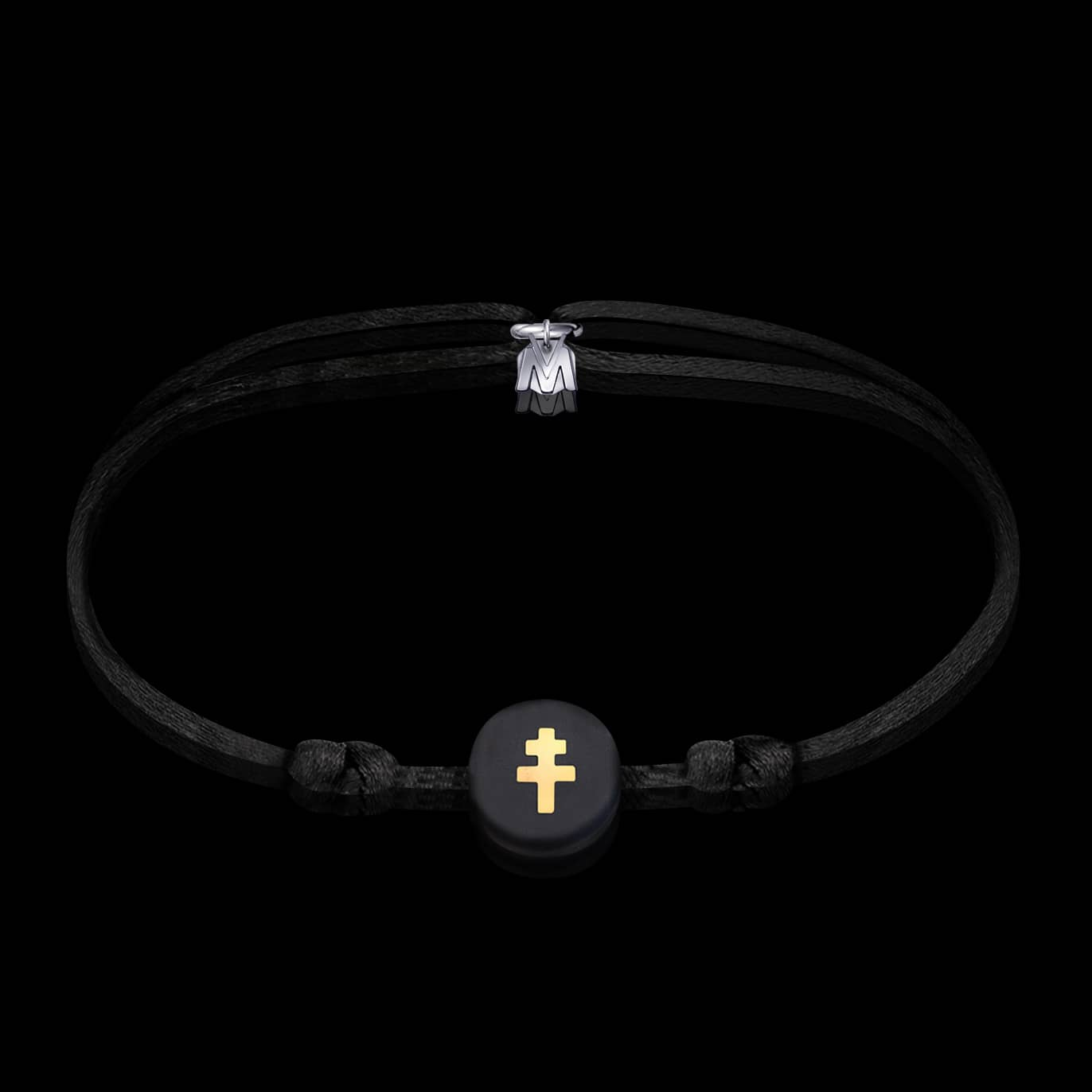 bracelet-croix-de-lorraine-noir-michael-vessiere