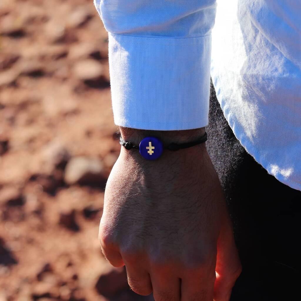 bracelet-homme-croix-lorraine