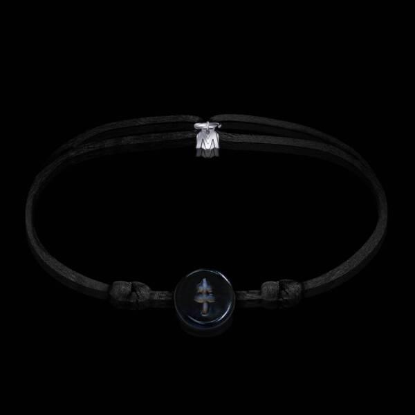 bracelet-croix-de-lorraine-noir