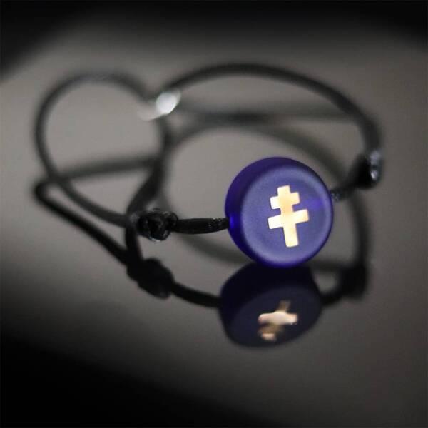 bracelet-croix-de-lorraine-verre-bleu