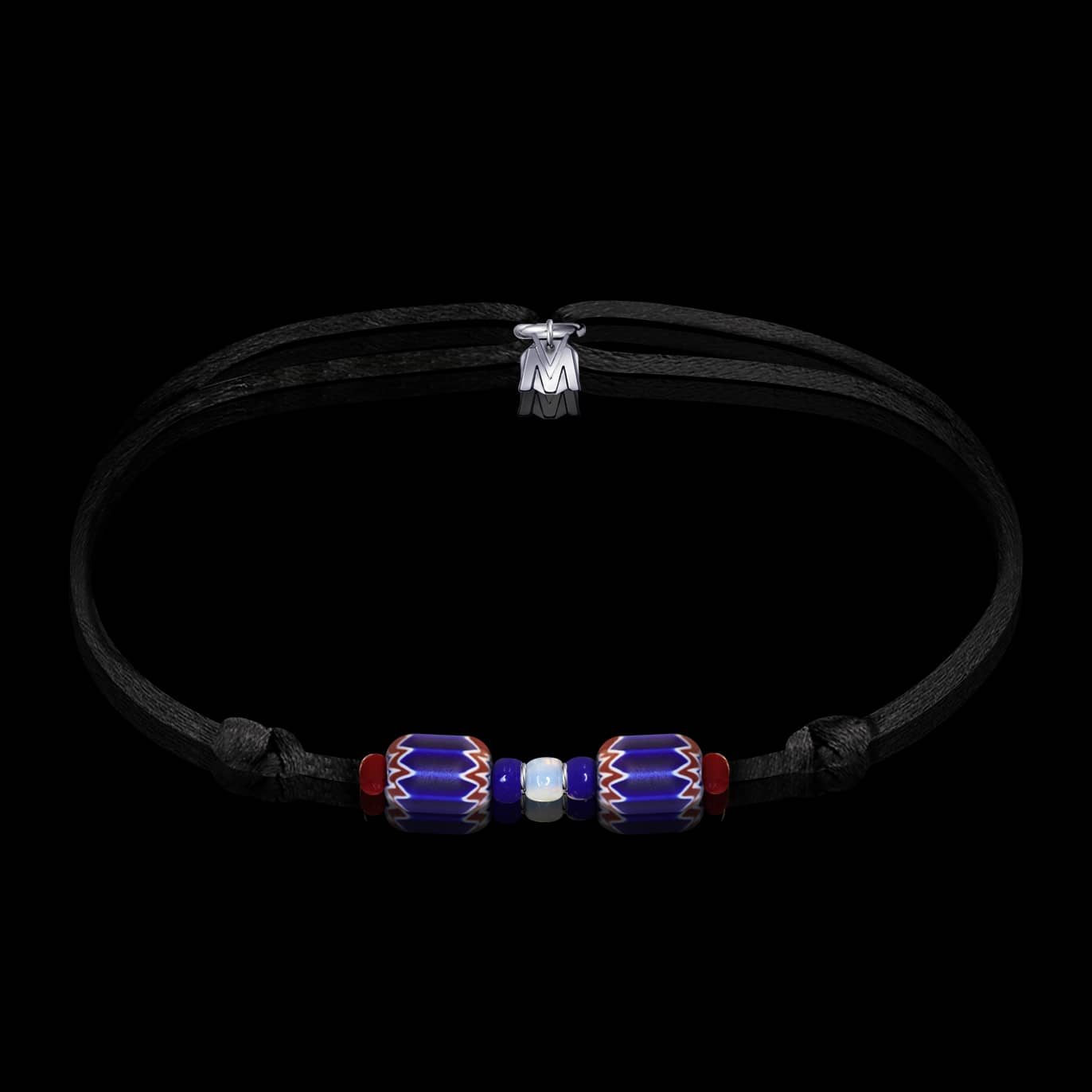 bracelet-perles-chevron-verre-de-murano